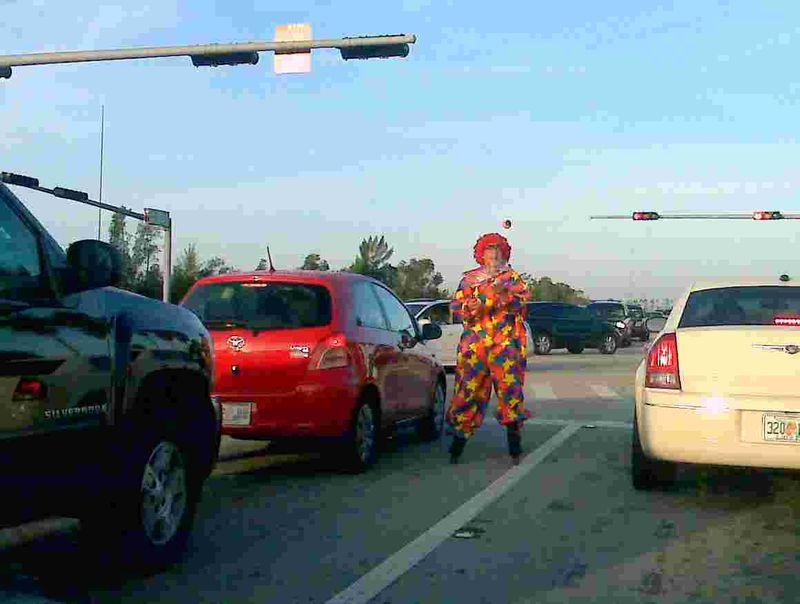 ClownInMiamiTraffic