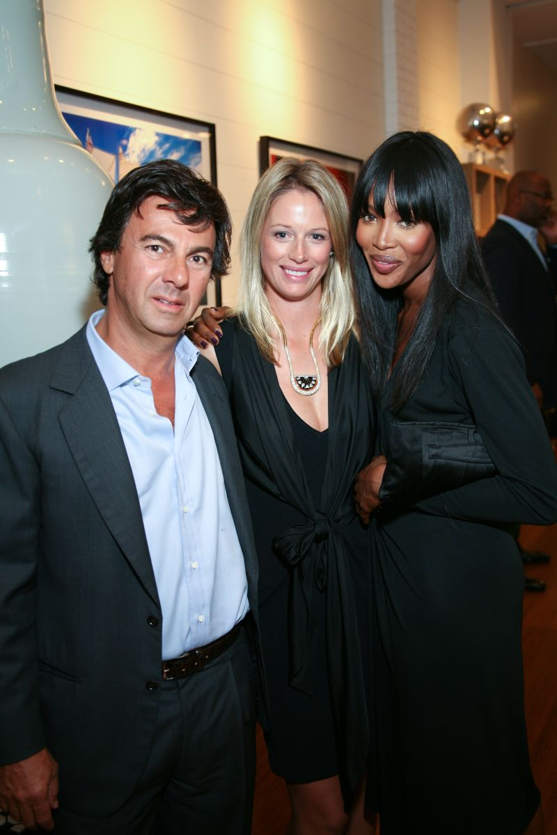 Ugo and Sara Colombo and Naomi Campbell