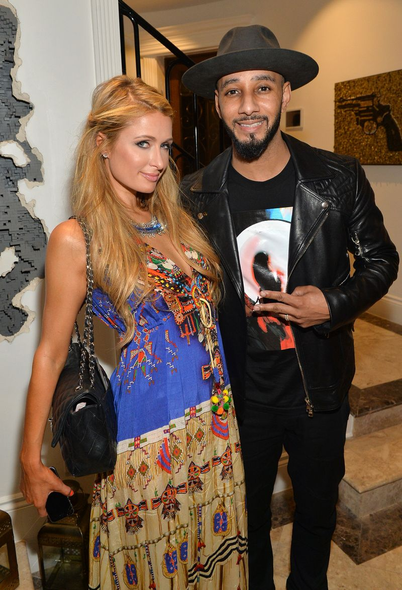 Paris Hilton and Swizz Beatz attend Kehinde Wiley + GREY GOOSE Portrait Preview