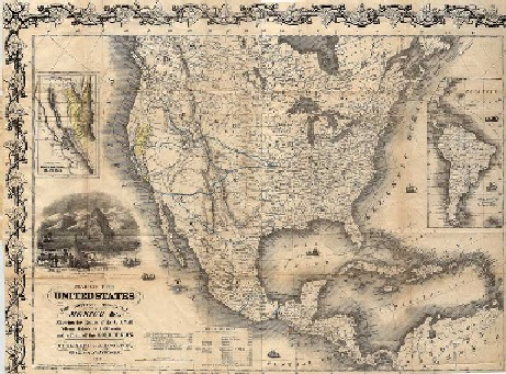 the california gold rush map. california gold rush map.
