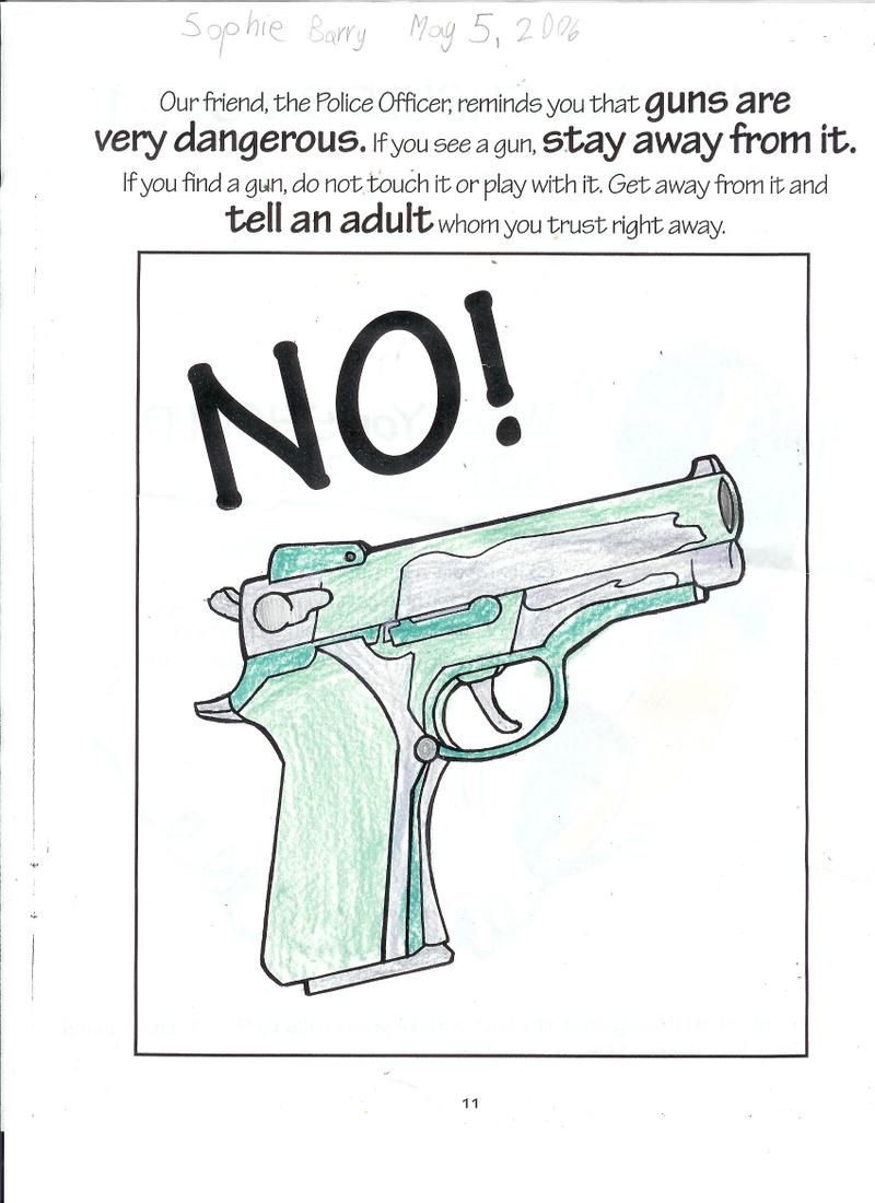 Coloring pages guns - No_to_guns
